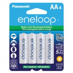 Panasonic Eneloop Pre-charged Rechargeable AA 4 pack